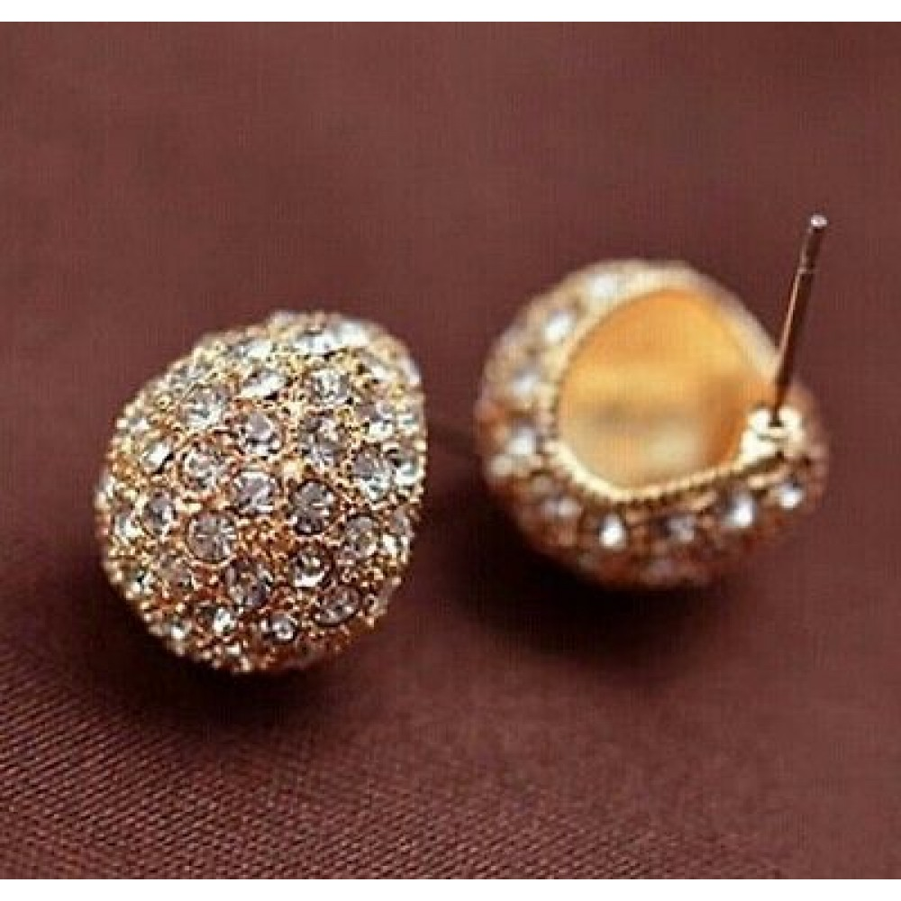 hot fine ol jewelry zirconium korean gold fashion retail beiver earrings hook new shop