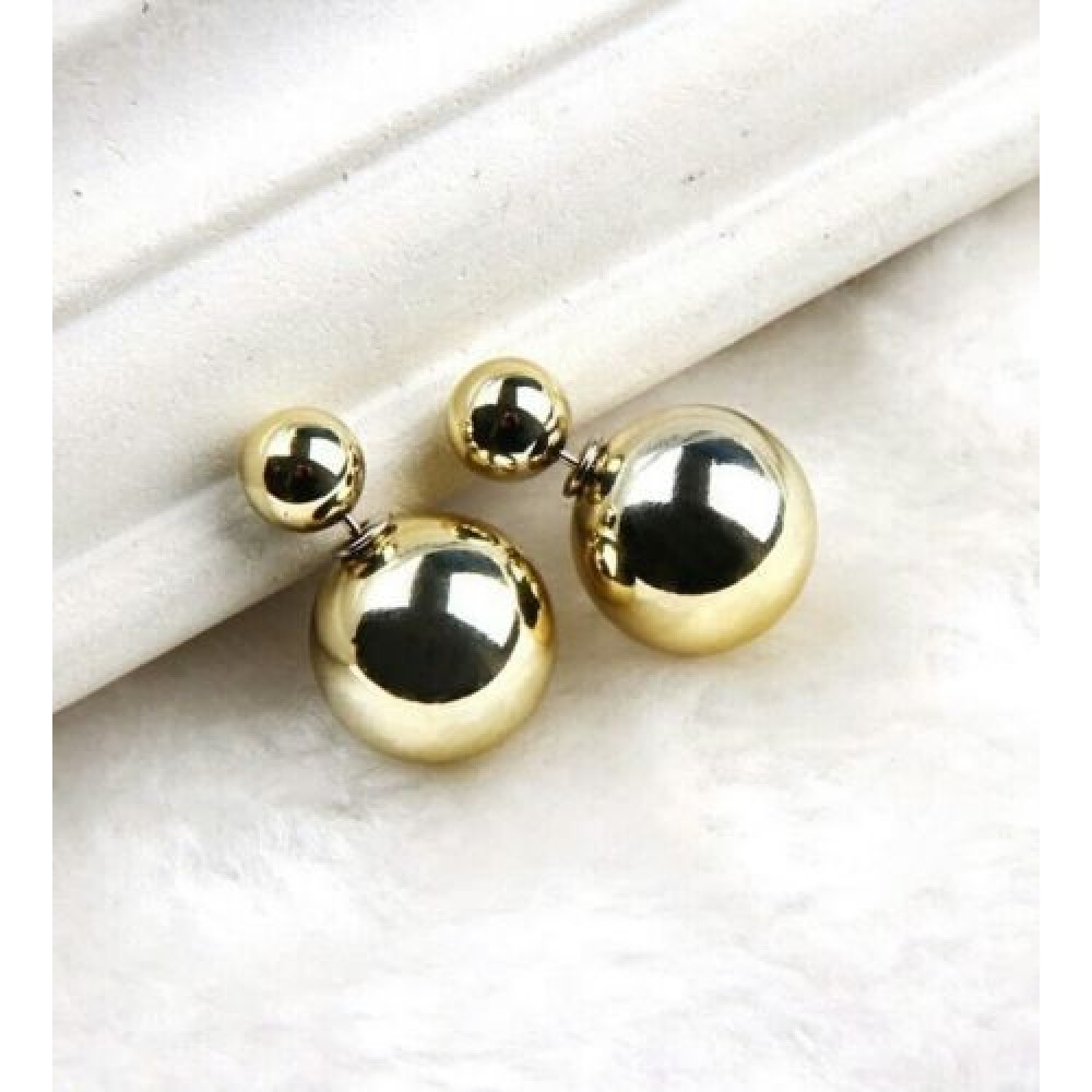 p gold earrings wholesale trendy women for plated round stud stone
