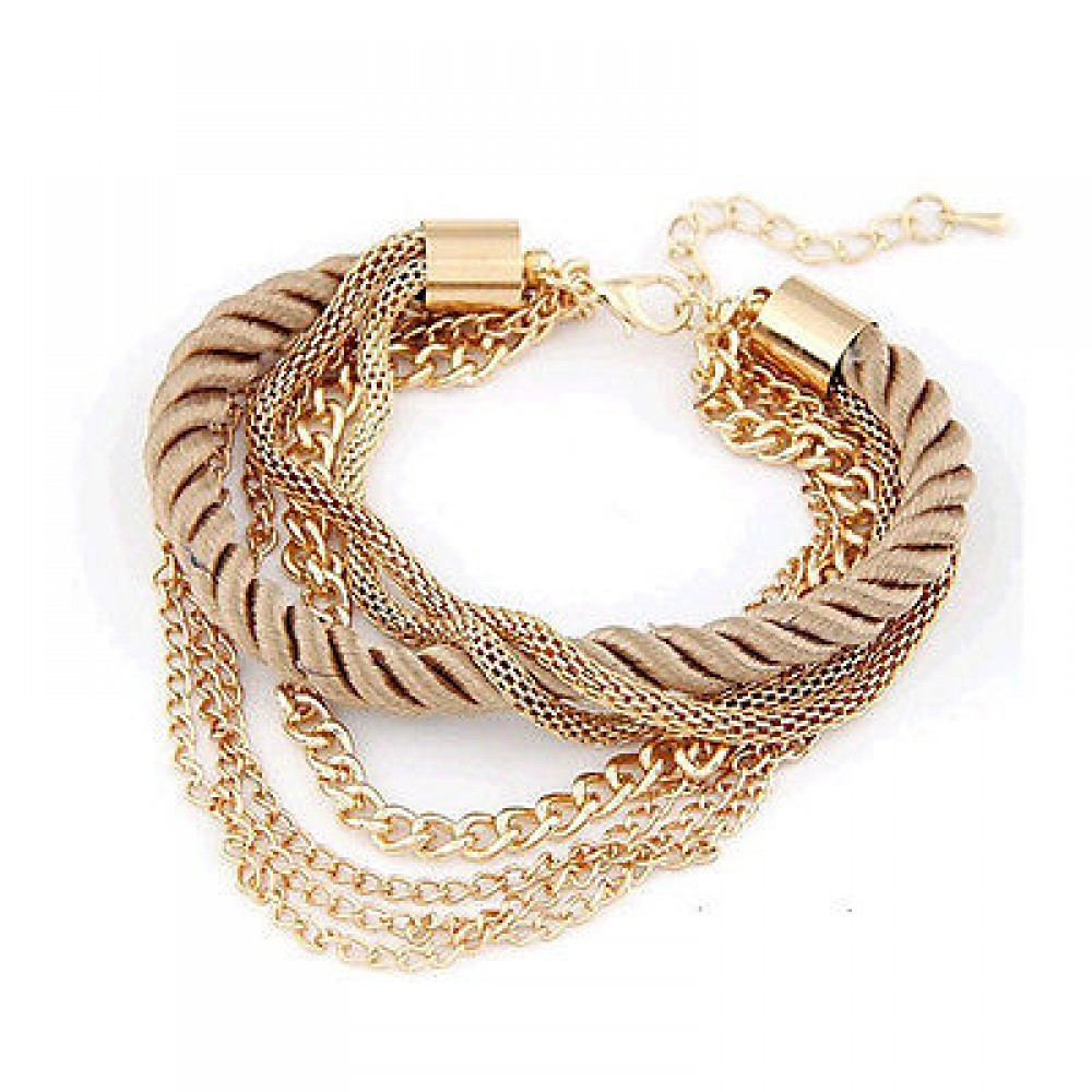 3086 Fashion rope chain bracelet decoration for girl of six colors ...