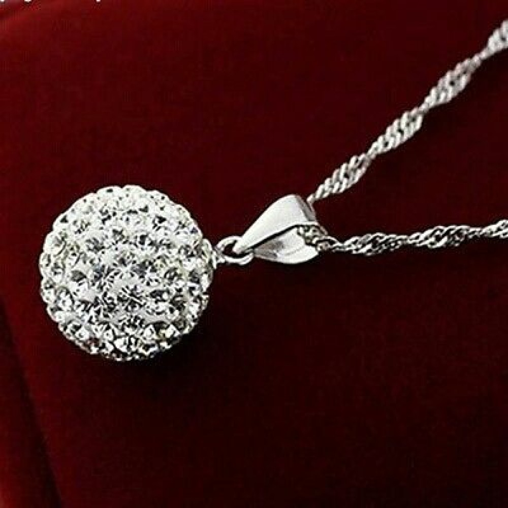 collar jewelry from necklace chain item plated white crystal gold zirconia necklaces for in cubic choker austrian pendant color ball round women