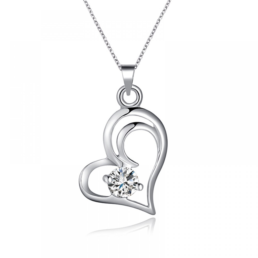 7098 lover heart shape crystal pendant for girls aloadofball Image collections