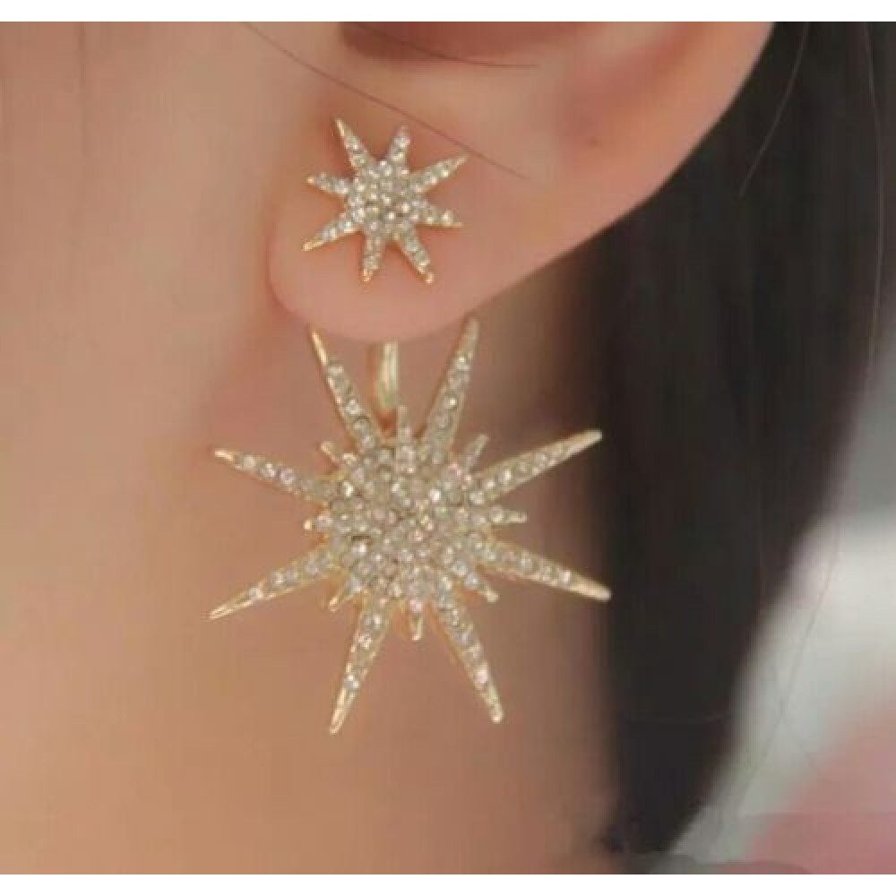 earrings classic party zircon european trendy style women cross new stud for jewelora gold fashion plated jewelry
