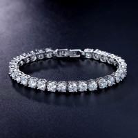 3104 AAA+ Round 0.5 carat Cubic Zirconia Tennis Bracelet for Woman Pulseira Classic Wedding Jewelry Lady Bracelet