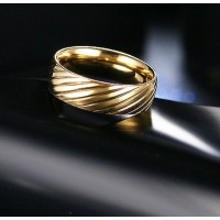 9201 Stainless Steel Rings For Women Surface Twill Fashion Jewelry