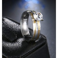 9209 Stainless Steel Rings Diamond CZ For Women Fashion Jewellery