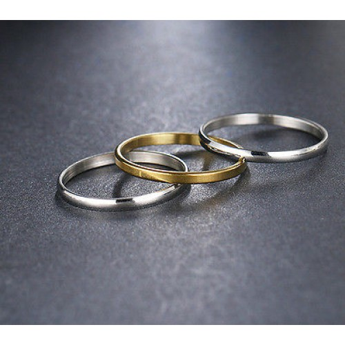 9218 Stainless Steel Rings For Women 1set(3pcs) Free Combination
