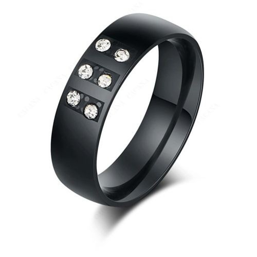 9226Top Quality Rings For Women & Men Black Color With Shining  CZ Diamond ring