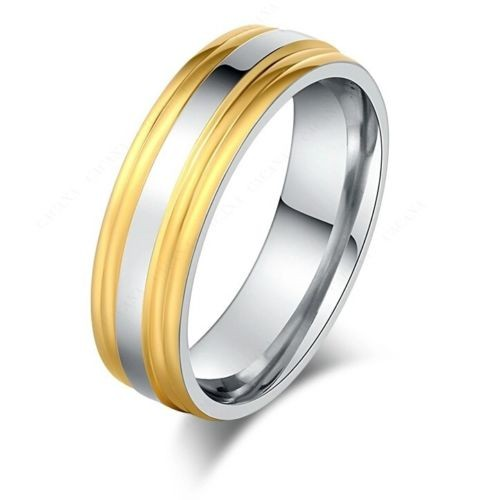 9263Stainless Steel Rings For Women & Men Gold Plated Double Side Fashion ring