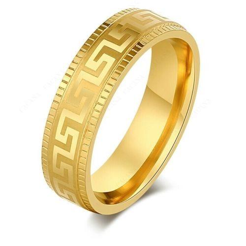 9265 Stainless Steel Ring Women & Men Gold Plated Surround Pattern Fashion ring