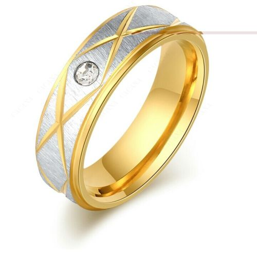9273 Stainless Steel Rings For Women & Men Gold Plated Fashion ring