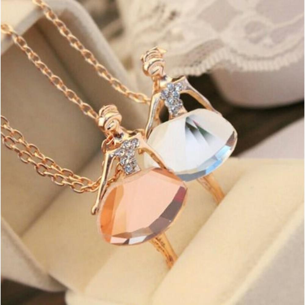7069 gold chain shiny crystal ballerina girl pendant necklace 7069 gold chain shiny crystal ballerina girl pendant necklace aloadofball Images