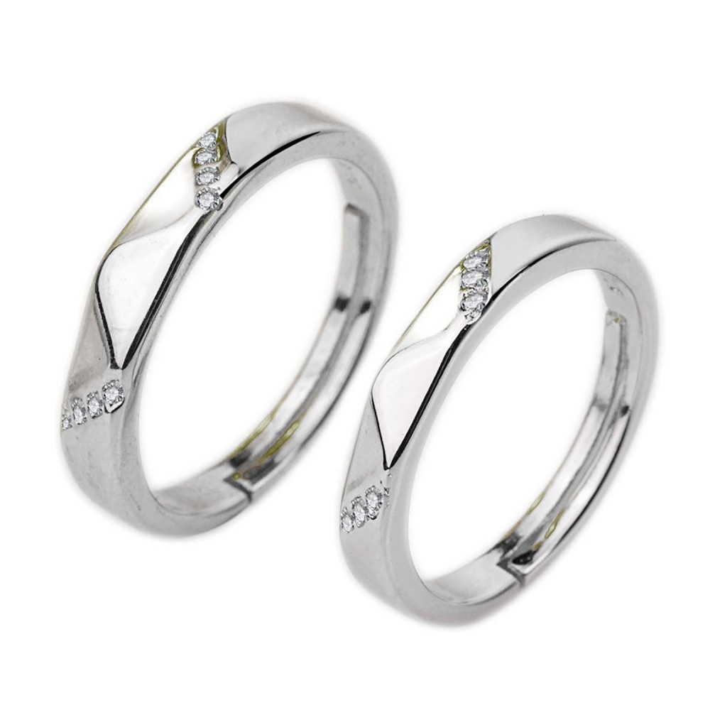 Three Stone Promise Rings For Couples Engagement Wedding Rings