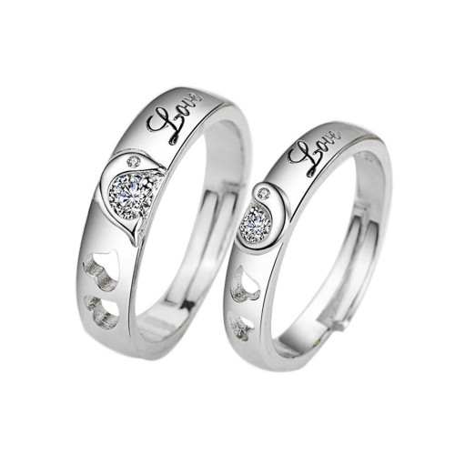 9352 Couple Ring Fashion Romantic Forever Concubine Dolphin Love Couple Men & Women Wedding Ring Jewelry Love Gift