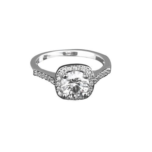 9385 Big Diamond studded daily wear party wedding proposal love Titanium ring