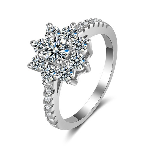 9394 Titanium Plated Sunflower  Party engagement wedding love proposal women girl ring