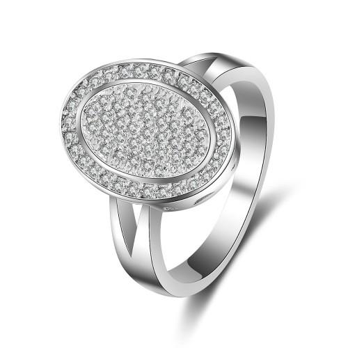 9404 Multi diamond studded wedding love engagement love Platinum propose girl women partywear