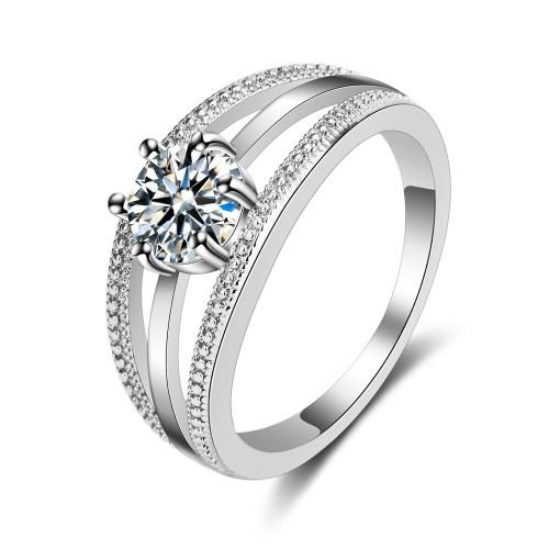 9409 Only True Love Couple Ring Women Rhinestone Diamond Wedding Ring