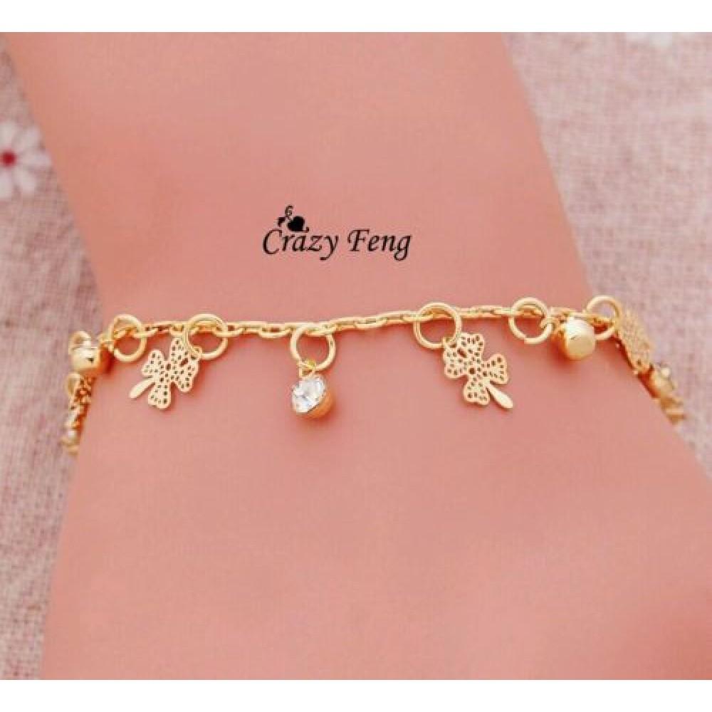 3052 New Design 18k Yellow Gold Plated Friendship Bracelets