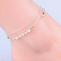2006 Little Star Pentagram Silver Plated Anklet Foot  Bracelet