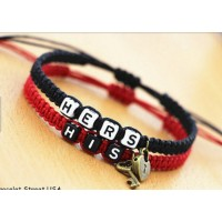 3109 Couple Bracelets His Her key lock For Girls and Boys