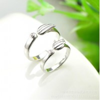 9293 angel wings ring to adjust the size Korean version of the couple wings