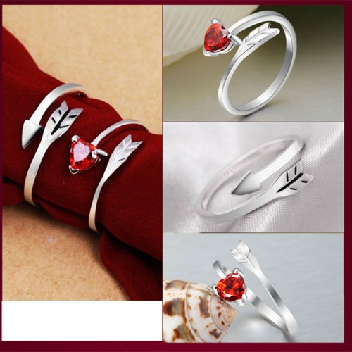 9294  arrow couple ring mouth live mouth men and women ring