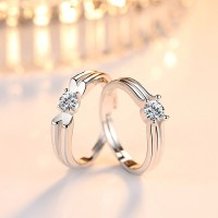 9284 Stylish Stainless Steel Couple ring for Men and Women