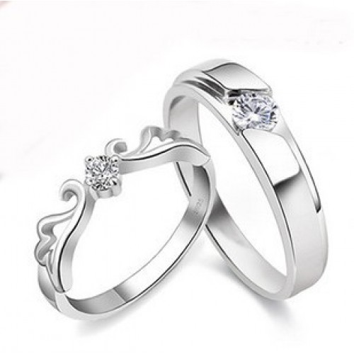 9285 Couple Rings Best Valentine Gift Adjustable