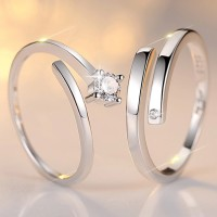 9296 sterling silver ring couple Platinum Platinum Korean jewelry silver jewelery