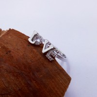 9301 LOVE ADJUSTABLE AMERICAN-DIAMOND RING