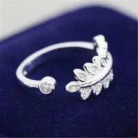 9306 LAVISH LIVELY LEAVES AMERICAN DIAMOND RING