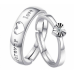 #9282 CROWN ADJUSTABLE AMERICAN FOREVER LOVE COUPLE RING